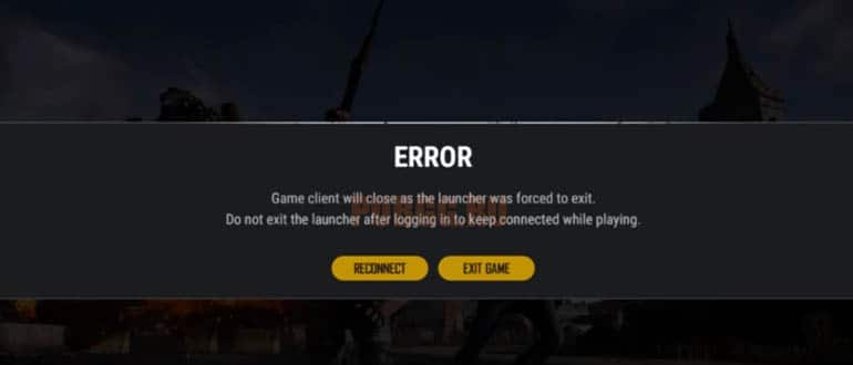 PUBG Lite: Game client will close as the launcher was forced to exit